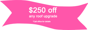 $250 off roof upgrade